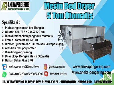 mesin bed dryer, mesin box dryer, box dryer