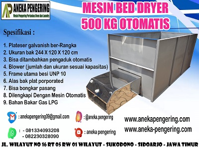 mesin box dryer, mesin bed dryer, box dryer