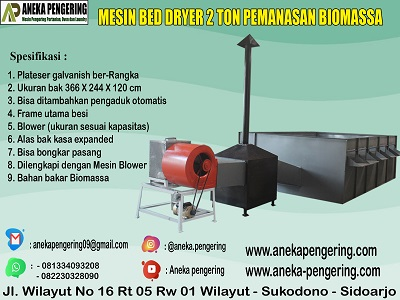 bed dryer, box dryer, mesin pengering padi
