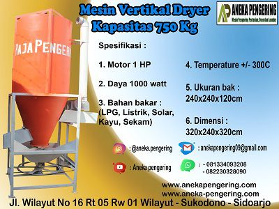 vertical dryer, mesin pengering vertical, alat vertical